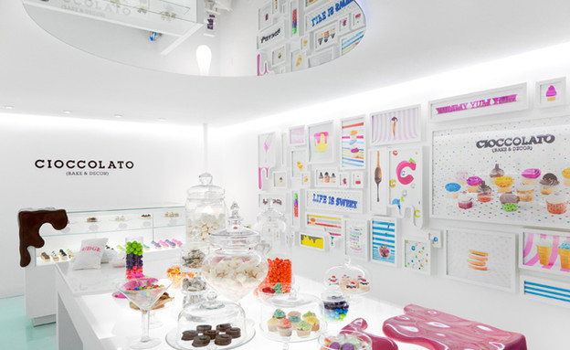 חנות שוקולד, רגל נמסה, שולחן (צילום: savvy-studio.net)