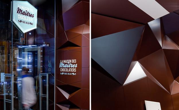 חנות שוקולד, פסל קירות (צילום: www.minaledesignstrategy)