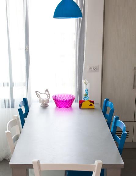 סטפני גריב בשיפוץ, מטבח שולחן (צילום: יוראי ליברמן)