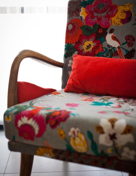 סטפני גריב בשיפוץ, סלון כיסא (צילום: יוראי ליברמן)