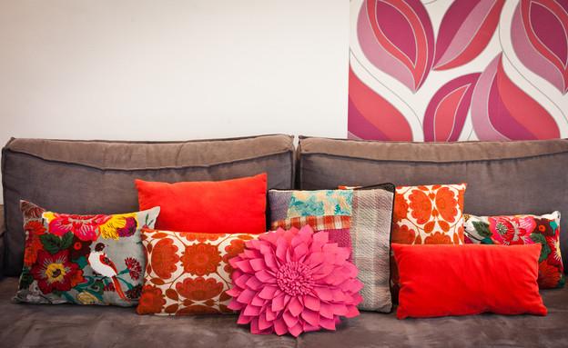סטפני גריב בשיפוץ, סלון ספה (צילום: יוראי ליברמן)
