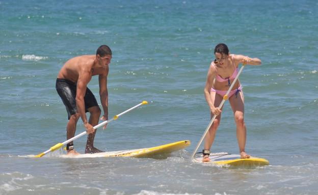 טליה וקובי המירוץ למיליון בים (צילום: צ'ינו פפראצי)
