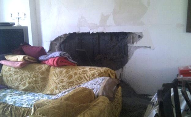 בטון, דירת מגורים (צילום: חדשות 2)