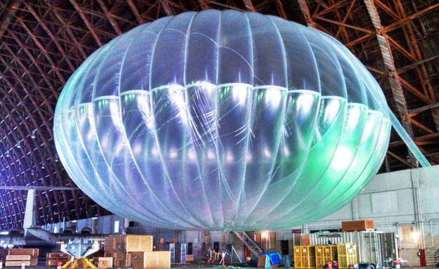 בלון אינטרנט חופשי גוגול (צילום: חדשות 2)
