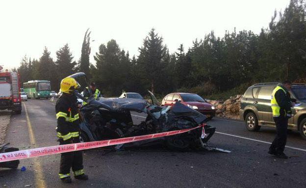 תאונה בכביש 90, ארכיון (צילום: 0404)