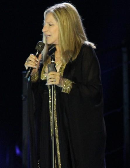 ברברה סטרייסנד בהופעה בישראל