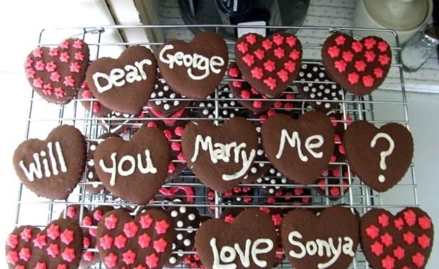 הצעות נישואין - עוגיות (צילום: מתוך: plainlivingandhighthinking.blogspot.com)