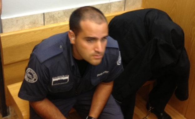 החשוד, היום בבית המשפט (צילום: פוראת נאסר, חדשות 2)