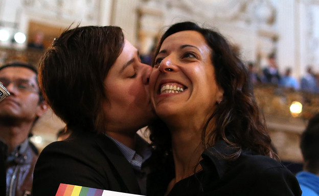 נישואים גאים (צילום: Justin Sullivan, GettyImages IL)