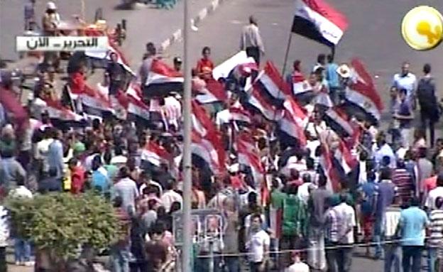 ההמון כבש את הרחובות (צילום: חדשות 2)