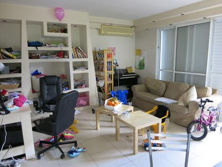 השבחת נכס, אנה גוטמן דירה1, לפני סלון, צילום אנה גוטמן