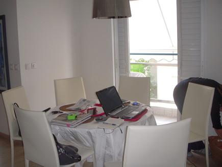 השבחת נכס, טלי ורקפת, לפני פינת אוכל, צילום ביתי