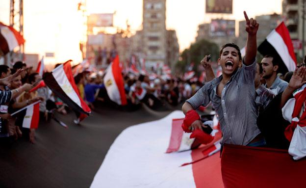 מחאת הדור הצעיר (צילום: AP)