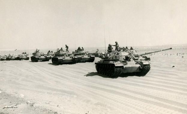 טנקים במלחמת יום כיפור (צילום: חטיבה 14)