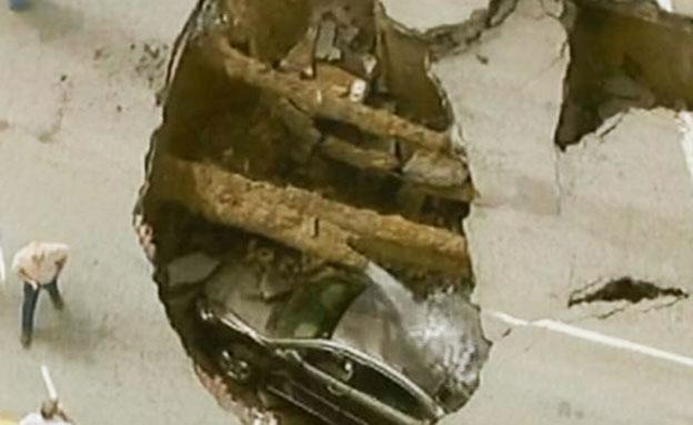בולען (צילום: חדשות 2)