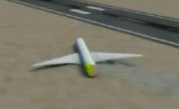 צפו: הדמיית התרסקות המטוס (צילום: CNN)