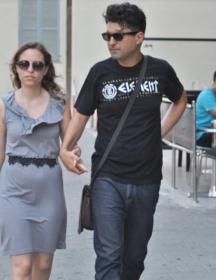 דודו ארז ואשתו (צילום: צ'ינו פפראצי)