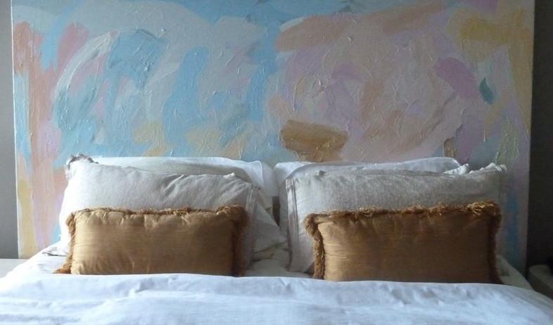 גב מיטה, ציור (צילום: headboard mydesignermom blogspot co il)