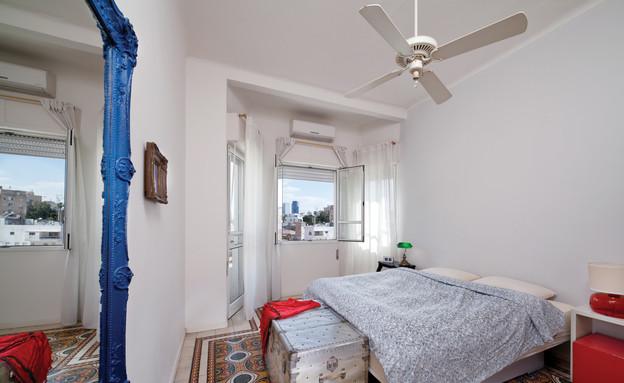 דירה בשוק, חדר שינה (צילום: טל ניסים)