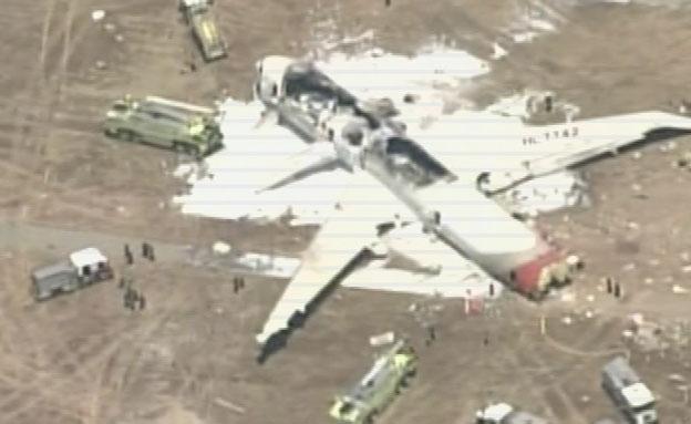 מטוס בואינג נשרף (צילום: רויטרס)