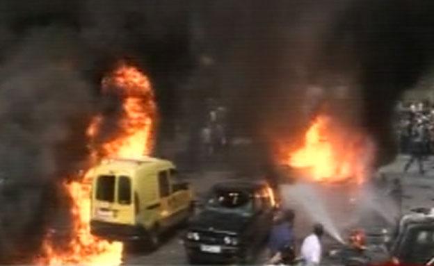 אש ועשן בלב ביירות