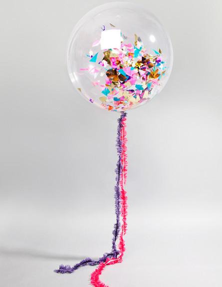 bonbonballoons בלונים, קונפטי חוטים מחוברים (צילום: bonbonballoons)