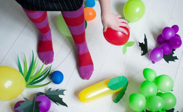 ohhappyday בלונים, פירות תלויים (צילום: ohhappyday)