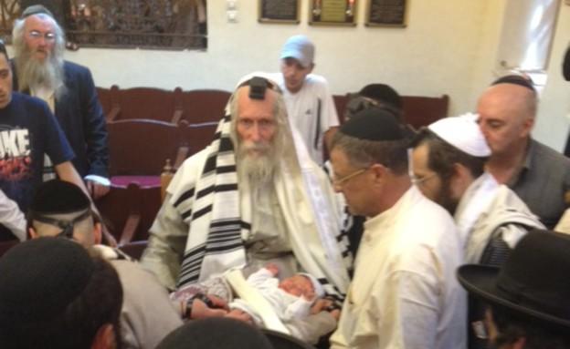 הרב ברלנד וגבי בן הרוש (צילום: תומר ושחר צלמים)