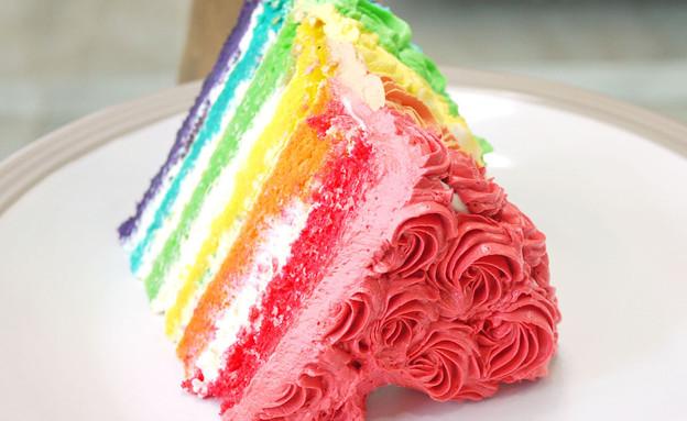 עוגת קשת עם ורדים (צילום: מתוך האתר crustabakes.wordpress.com)