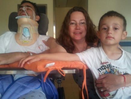 משפחת כץ סלע אחרי התאונה