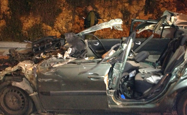 תאונה, אריאל, שומרון, פיגוע (צילום: חדשות 2)