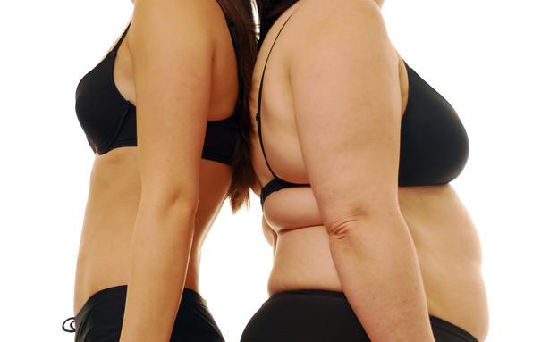 אישה רזה ומלאה (צילום: Thinkstock, getty images)