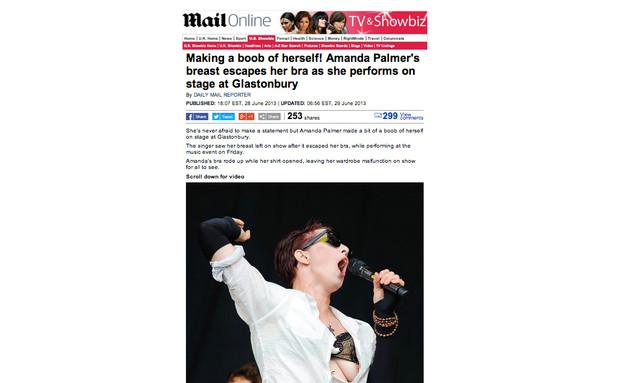 "אמנדה פאלמר ב""דיילי מייל"" (צילום: dailymail.co.uk)"