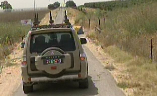 שוב: נפילה ברמת הגולן (צילום: חדשות 2)