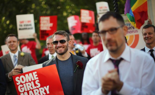 תומכים בנישואים גאים באנגליה (צילום: Dan Kitwood, GettyImages IL)