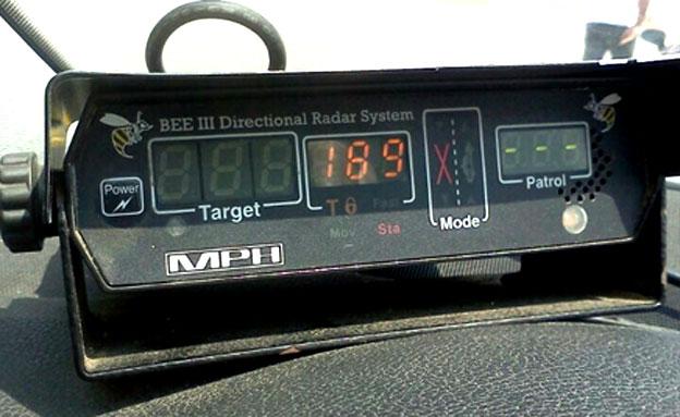 """יותר מ-100 קמ""""ש מהמהירות המותרת (צילום: משטרת ישראל)"""