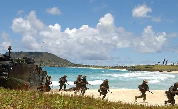 בסיס המארינס בהוואי (צילום: הצי האמריקאי)
