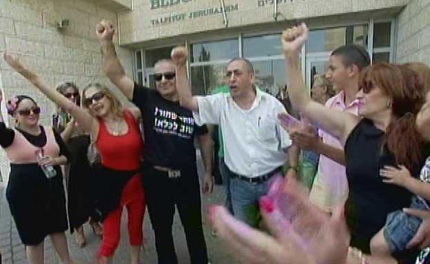 """""""הפנתר השחור"""" לפני כניסתו לכלא (צילום: חדשות 2)"""