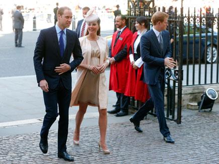 הזוג המלכותי לקראת הלידה (צילום: רויטרס)