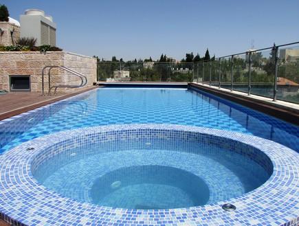 בריכות פרטיות, ירושלים בריכה עם ג'קוזי. צילום ג.ש. (צילום: ג.ש. בינוביץ)