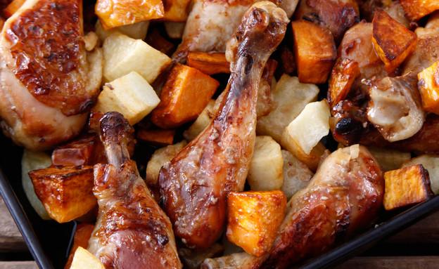 עוף בתנור עם ג'ינג'ר וסויה (צילום: אפיק גבאי, אוכל טוב)