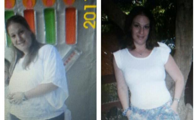 ניצן לפני ואחרי (צילום: תומר ושחר צלמים, צילום ביתי)