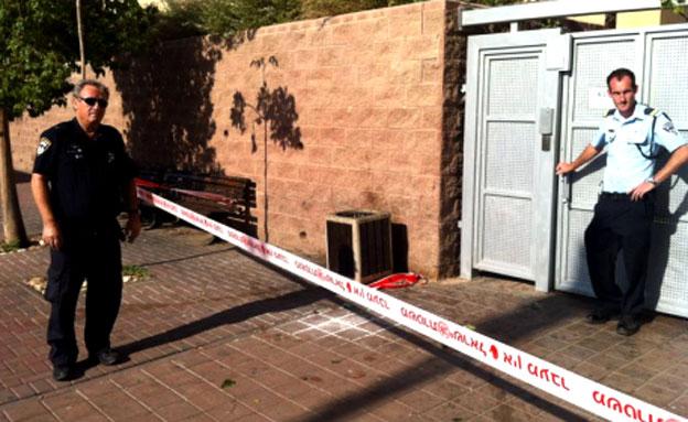 זירת הרצח באילת (צילום: משטרת ישראל)