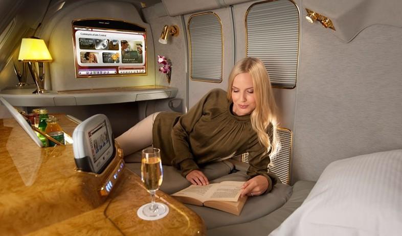 מחלקה ראשונה, דובאי ספר (צילום: www.emirates.com)