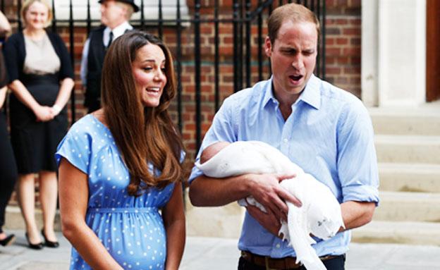 נבחר שמו של בנם הדוכסים מקיימברידג' (צילום: AP)