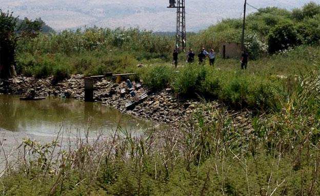 התחשמלות בבריכת דגים באיילת השחר (צילום: חדשות 2)