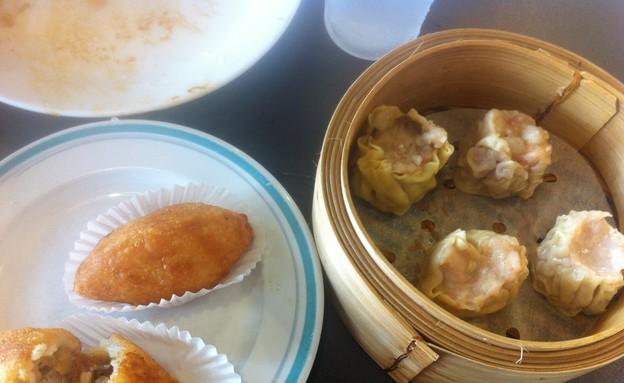 מנות סאו-מאי ושיאן סוואי ג'יאו במסעדת פוראמה (צילום: יעל קישיק, אוכל טוב)