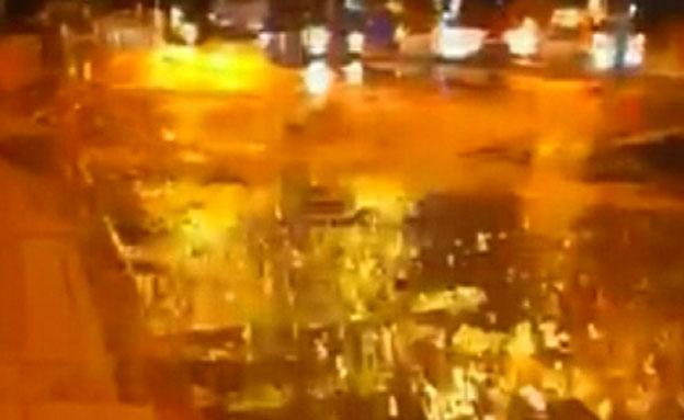 """צפו ב""""נהר"""" בבאר שבע (צילום: חדשות 2)"""