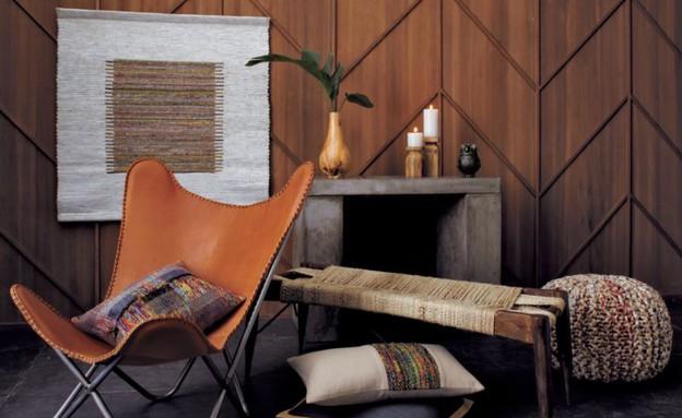 קרט אנד ברל, כיסא עם כרית (צילום: crateandbarre.com)