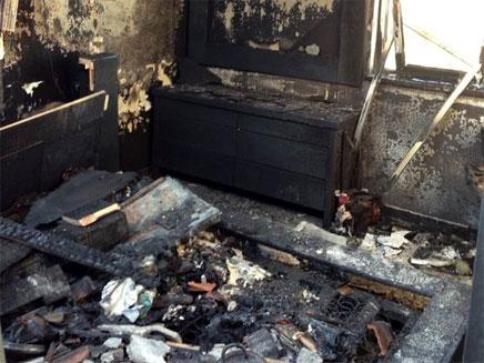 חדר השינה בבית שנשרף (צילום: באדיבות המשפחה)